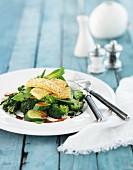 Roast vegetables with haloumi