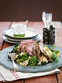 Lamb salad with mint
