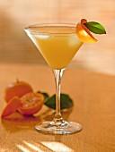 A tangerine martini