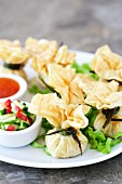 Wontons with chicken