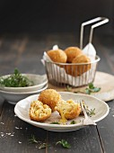 Fried cheese balls with Brie