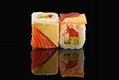California maki with salmon and avocado