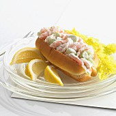 A prawn and celery roll