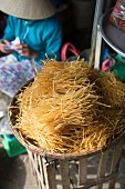 Dried rice noodles in Vietnam