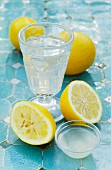 Water with lemon juice