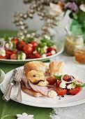 Tomatoes with mozzarella (Christmas)