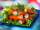 Surimi salad with lemon