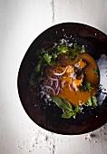Coconut and tuna fish curry