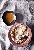 Rice pudding with coffee and cardamom
