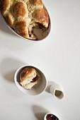 Rohrnudeln (baked, sweet yeast dumplings)