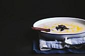 Cream of potato soup with white wine