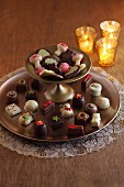 Christmas chocolate pralines