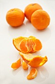 Mandarins, whole and peeled