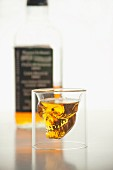 A skull shot glass