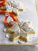 Cashew and almond barfi (almond milk confectionery, India) as a gift