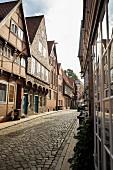Quiet alleyways in Lauenburg