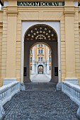 The main entrance of the Melk abbey, Austria