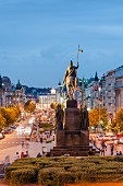 The famous Wenceslas Square in Prague