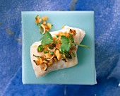 Fish fillet with a coriander and lemongrass crust