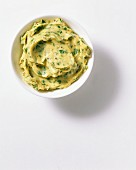 A bowl of herb butter