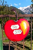 Apples being sold in South Tyrol