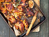 Barbecue-Chicken wings