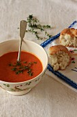 Pepper soup with thyme