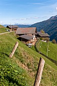 Holiday on the alm: farmyard, South Tyrol