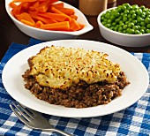 Haggis pie with carrots and peas (Scotland)