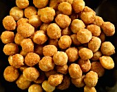 Honey roasted macadamia nuts (seen from above)