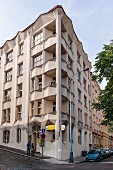 A cubist apartment block, Prague