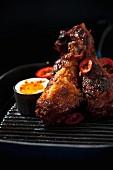 Chicken legs with chilli
