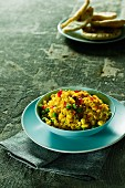 Fried yellow rice with vegetables