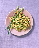 Bulgur with garlic chives