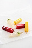 Homemade ice lollies