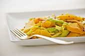 Yellow beet salad with celery