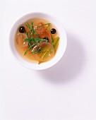 A sorrel marinade in a small bowl