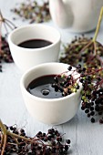 Hot elderberry tea