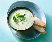 Cream of purslane soup