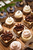 A selection of cakes for a dessert buffet
