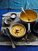Sweet potato soup with celery
