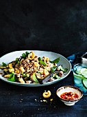 Pork and eggplant salad with salted chilli
