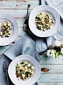 Orecchiette with broccoli, anchovies and homemade ricotta