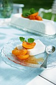 Buttermilk terrine with apricots