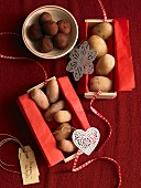 Marzipan potatoes as a gift