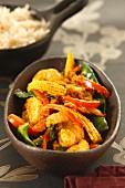 Korma (Currygericht aus Indien) mit Reisbeilage