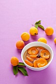 Apricot compote with cloves