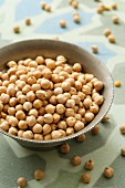 Chick-peas in a dish
