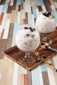 Joghurtsmoothie mit Cookies & Marshmallows