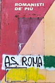 A love of AS Roma has been carved for all eternity on a wall in the artist quarter of Testaccio, Rome